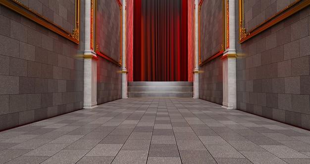 Weg zum erfolg auf dem roten teppich. der weg zum ruhm.