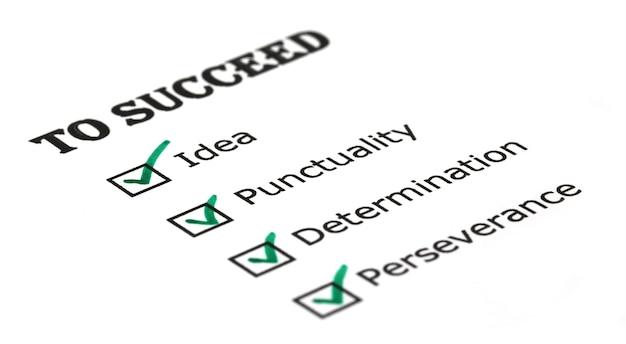 Weg zum erfolg checkliste auf whitepaper