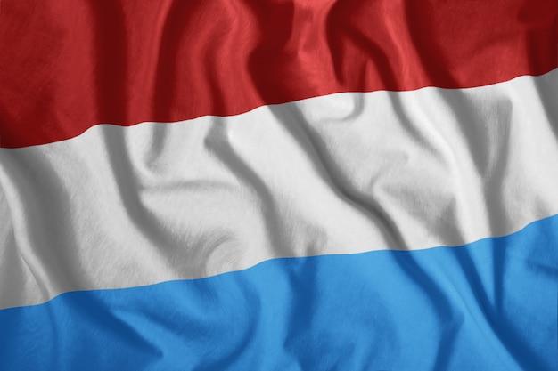 Wehende flagge von luxemburg