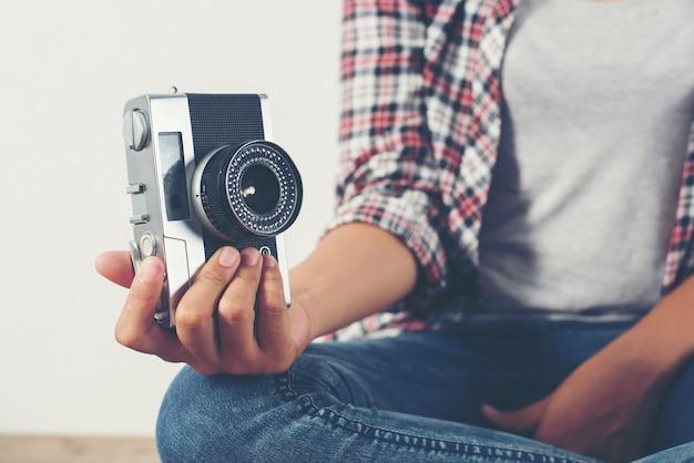 Weiblich nahaufnahme streifen photographieren photographie