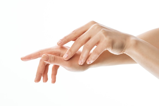 Weibliche hände hautpflege medizin nahaufnahme dermatologie