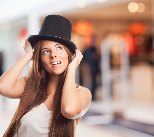 Weibliche magie kabarett junge dame