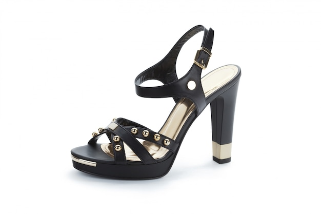 Weibliche sandaletten lokalisiert auf weiß