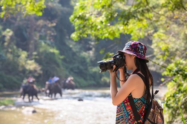 Weibliche touristen