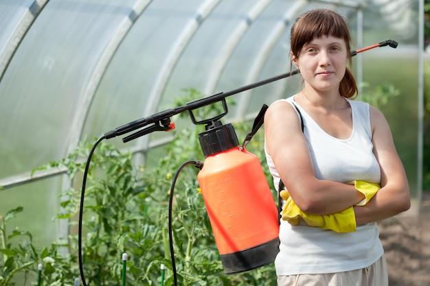 Weiblicher gärtner