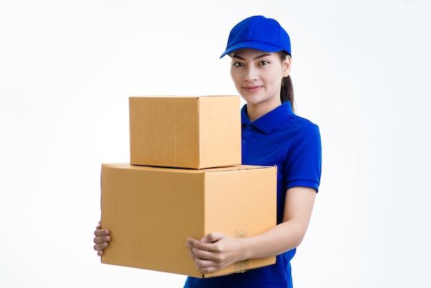Weibliches lieferpersonal
