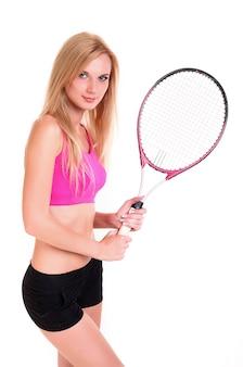 Weibliches tennisspieler-portrait