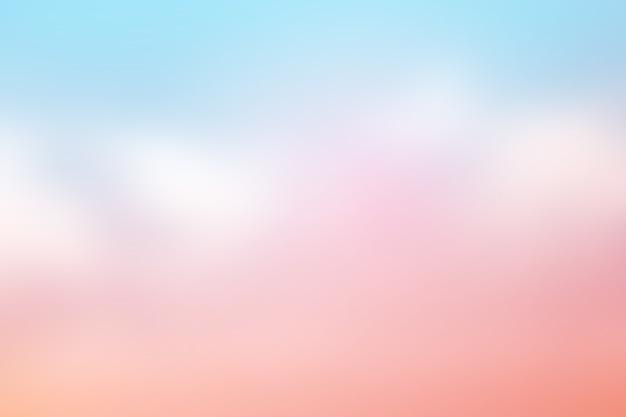 Weich bewölkt ist farbverlauf pastell