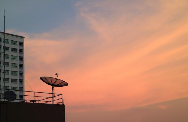 Weiche farbe des tropischen sonnenunterganghimmels