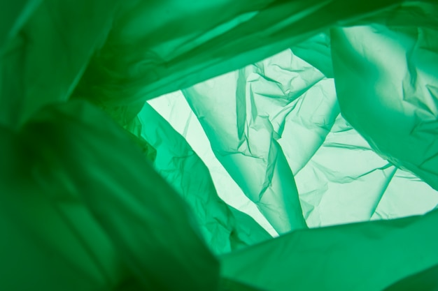 Weiche grüne textur. grüner plastikhintergrund