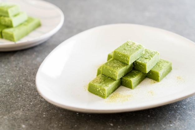 Weiche schokolade grüner tee
