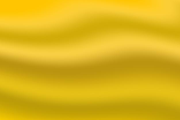 Weiche textur der goldgradientenfarbe, die als dekorativer hintergrund der abstrakten glatten welle gewellt wird