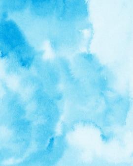 Weicher blauer aquarell-hintergrund, digitales papier, blaue beschaffenheit