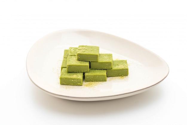 Weicher grüner schokoladentee