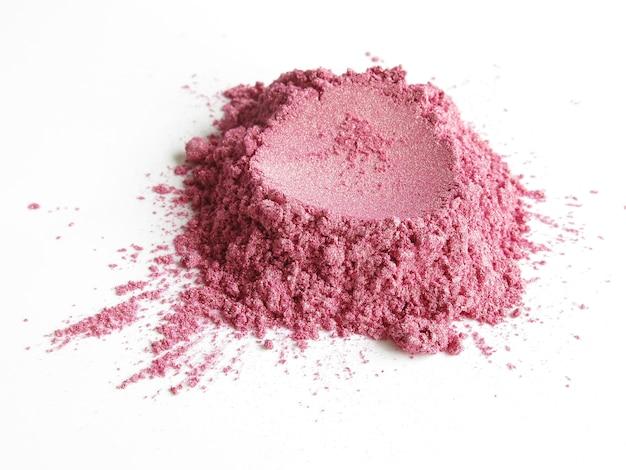 Weiches rosa glimmer-schimmer-pigment-kosmetik-pulver