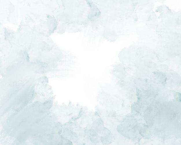 Weiches sanftes hellblaues abstraktes aquarell auf einem weiß