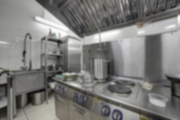 Weichzeichnerhintergrund der küchengaststätte.