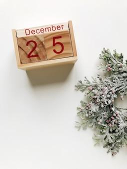 Weihnachten 25. dezember kalender