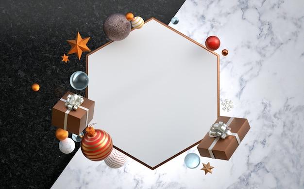 Weihnachten 3d-rendering-szene und modern product display podium.