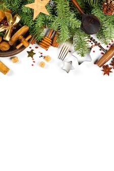 Weihnachten, das hintergrund - platz für ihren text kocht