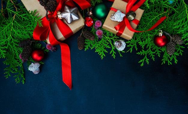Weihnachten elemente konzept