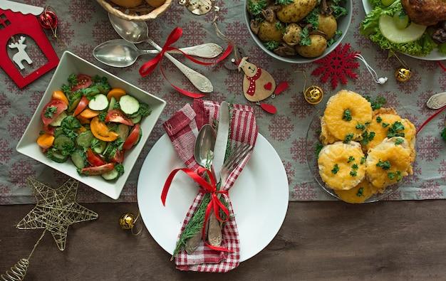Weihnachten esstisch