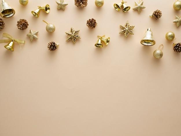 Weihnachten goldglitter elemente.