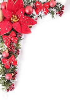 Weihnachten grenze mit poinsettia