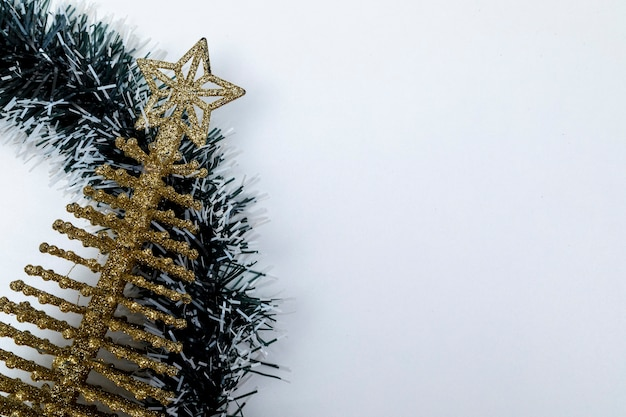 Weihnachten hintergrund. draufsicht mit kopienraum.