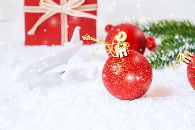 Weihnachten hintergrund. frohes neues jahr. selektiver fokusurlaub