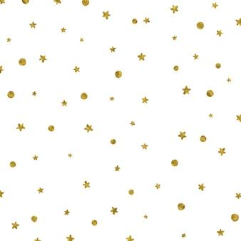 Weihnachten hintergrund mit goldenen sternen und punkten