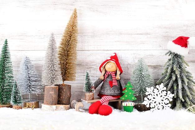 Weihnachten hintergrund. weihnachtsbaum und dekorationen.