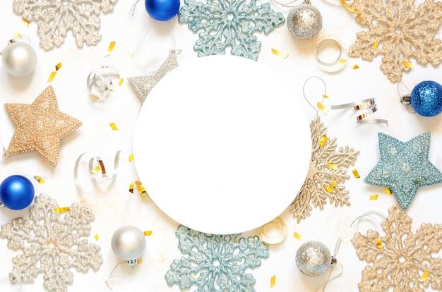 Weihnachten oder neujahr rahmenzusammensetzung