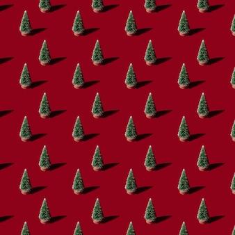 Weihnachten patern tannenbaum im hintergrund. konzept neujahrswald