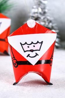 Weihnachten santa claus gemacht von der toilettenpapiernabe