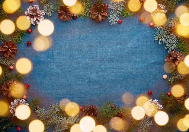Weihnachten und frohes neues jahr dunkelblau