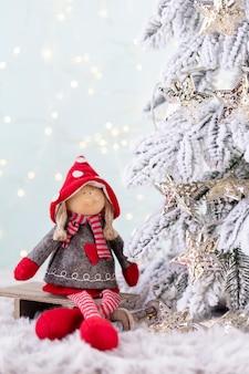 Weihnachten und neujahr gemütliche dekoration, bokeh-hintergrund.
