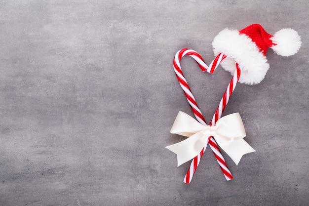 Weihnachten zuckerstangen, stick und dekor