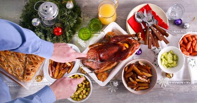 Weihnachtliches familienessen,