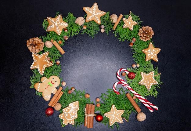Weihnachts dekorativer kranz