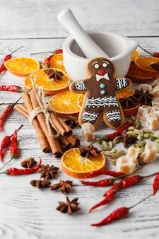 Weihnachts hausgemachte lebkuchenplätzchen