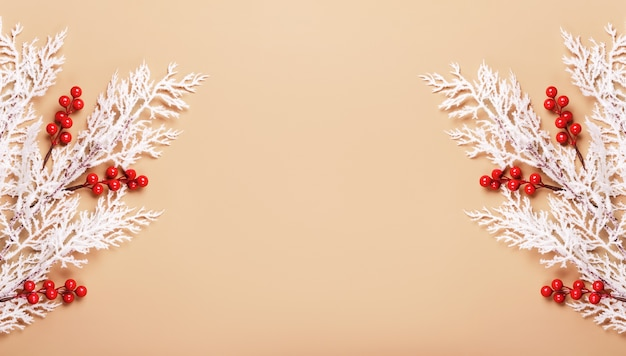 Weihnachts- oder neujahrshintergrund in neutralen farben