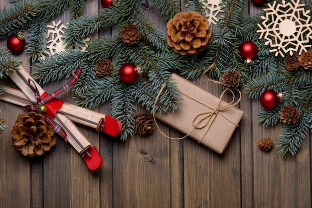 Weihnachts- oder neujahrskarte mit platz für grüße