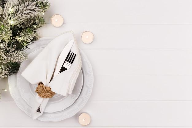 Weihnachts- und neujahrsgedeck