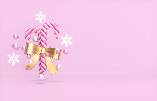 Weihnachts- und neujahrshintergrund mit zuckerstange.