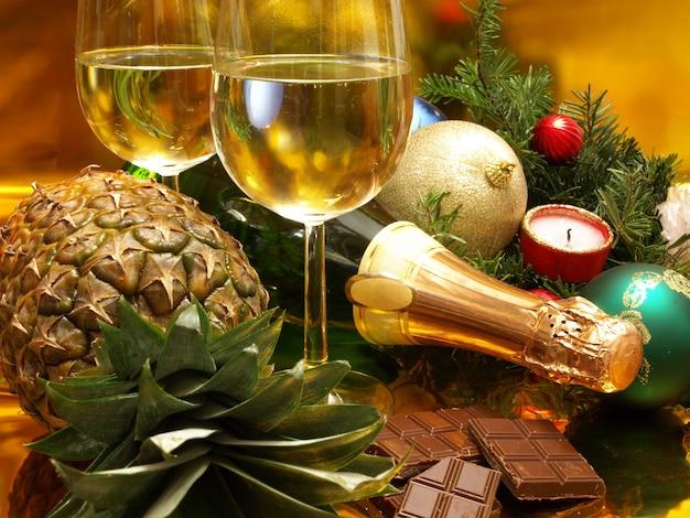 Weihnachts- und neujahrspartyeinstellung