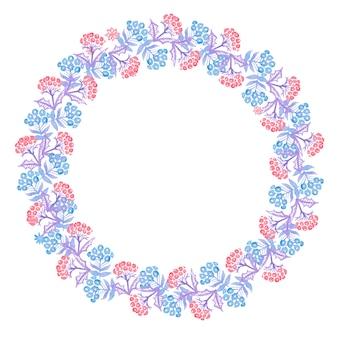 Weihnachtsaquarellkränze für dekoration
