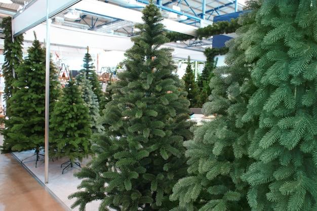 Weihnachtsbäume im einkaufszentrum