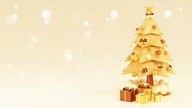 Weihnachtsbäume umgeben von geschenkboxen