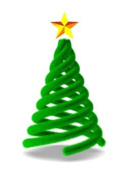 Weihnachtsbaum auf weiß. isolierte 3d-illustration